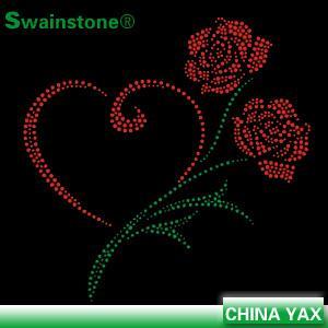 China manufacturer hotfix iron on flower rhinestone designs,rhinestone flower designs,rhinestone designs flower motifs Manufactures