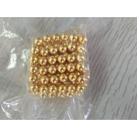 Large High Temp Neodymium Ball Magnets With Gold / Silver Surface 10 - 20 µm Manufactures