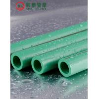 Buy cheap Green Polypropylene Random Copolymer Pipe / Heat Resistant Plastic Pipe Smooth from wholesalers