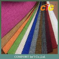 160cm Home Textile Fabric , 100% Polyester Woven Imitating Linen Sofa Fabric Manufactures