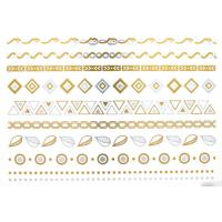 high quality metallic tattoo. Silver foil tattoo, Jewelry temporary tattoo, Manufactures