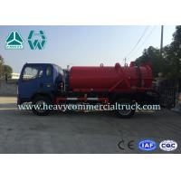 Environmental Protection Fecal Suction Truck High Pressure Cleaner 4 x 2 Manufactures