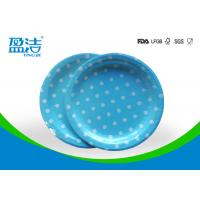 Odourless Smell Disposable Paper Plates 6 7 9 Inch With Certificates SGS FDA LFGB Manufactures