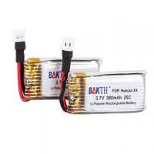 BAKTH Li-polymer Battery Pack 3.7V 380mAh RC Battery for Hubsan X4 Manufactures