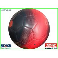 China Promotional Leather Street Soccer Ball Size 5 Football in Red and Black on sale