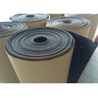 Quality Black Rubber Foam Insulating Roll High Density Adhesive 10mm Thermal Resistant for sale
