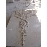 Beige marble carved panel by hand Manufactures