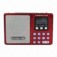 China FM Radio with USB, microSD Card Slot and Portable Speaker on sale