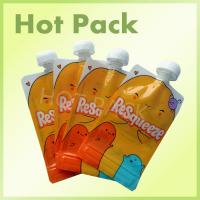 Resealable Foil Stand Up Pouch With Spout , Refillable Baby Food Pouches Manufactures