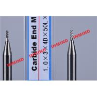 Carbide / Aluminum End Mill with HRC50 Hardness 45 Degree Helix Angle Manufactures