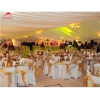 Huge Outdoor Party Tents With White Plain PVC Sidewalls Flame Retardant