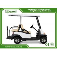CE Approved Used Club Car Golf Carts 4 Seater White Color Lead - Acid Batteries Manufactures