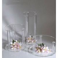 Plexiglass Acrylic Rods And Tubes , High Light Transparency Acrylic Tube Cake Stand Manufactures