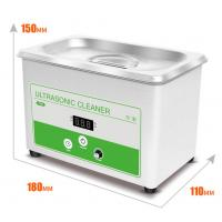 China Small Benchtop Ultrasonic Cleaner 0.8L Ultrasonic Bath Cleaner For Lab  Digital Display Of Set And Actuall Timer on sale