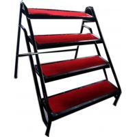 Aluminum Anti - Slip 4 Stage Stairway Stepladder With Iron Handle Manufactures