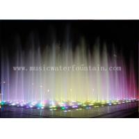 Color Changing Outdoor Floor Fountains Waterfalls For Restaurants / Shopping Malls Manufactures