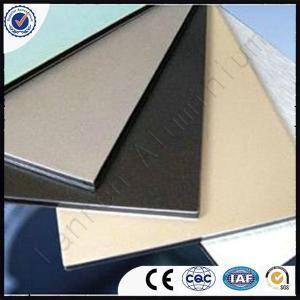 Plastic PVDF Aluminium composite panel Manufactures