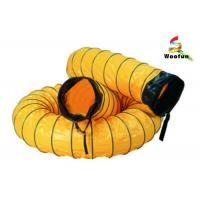 Quality Eco Friendly Ventilation High Temperature Flexible Duct With PVC Vinyl Coated Polyester Fabric for sale