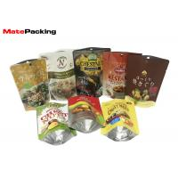 Gravure Vivid Printing Resealable Foil Pouch , Plain Stand Up Pouches For Chest Nuts Fruit Smell Proof 200g Manufactures
