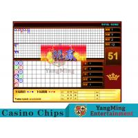 Red Baccarat Gambling Systems Suitable For Standard Limit Sign Poker Games Manufactures