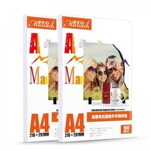 China A4 Sublimation Transfer Printing Inkjet Heat Transfer Paper on sale
