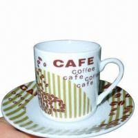 China 12pcs Coffee Cup and Saucer, Made of Porcelain on sale