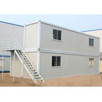 Two Layers Prefabricated Container House , 40ft Container Home With Insulation Wall Panel Manufactures
