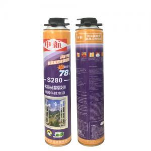 S280 Liquid Polyurethane Foam Spray High Density for Door Use , Gap Filling