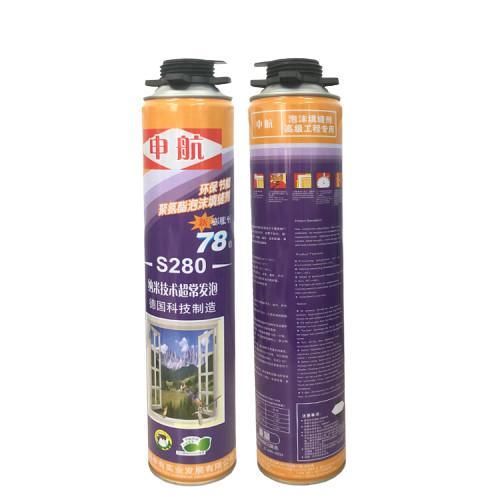 Quality S280 Liquid Polyurethane Foam Spray High Density for Door Use , Gap Filling for sale