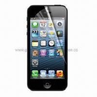 China Clear Screen Protector for iPhone 5, Made of PET Material and Anti-scratch Function  on sale