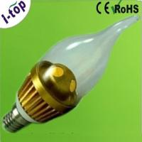 Buy cheap Warm White High Power Tear Shape Candle Tip Replacement Dimmable LED Light Bulbs from wholesalers