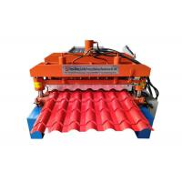 China Automatic Glazed Tile Making Machine , Corrugated Wall Panel Roll Forming Machine on sale