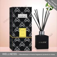 Black Square Home Reed Diffuser No Flame Fresh Smelling For Room Fragrance Manufactures