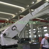 1T 4M Mini Yacht Marine Cranes With Telescopic Boom Manufactures