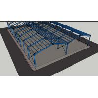 Galvanized Lightweight Prefabricated Steel Frame Buildings Customized Color Manufactures