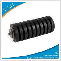 China belt conveyor roller with rubber rings Manufactures