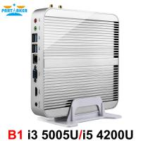 Partaker B1 Fanless Desktop Computer Mini PC I5 I3 With Intel Core I5 4200u I3 4010u I3 5005u Windows 10 Free WiFi HDMI Manufactures