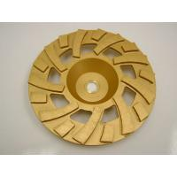 Quality Golden Sintered Fan Diamond Turbo Cup Wheel , Concrete Grinding Cup Wheel for sale
