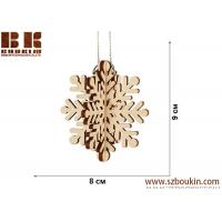 Laser plywood 3D snowflake ornament, Xmas tree decoration, wood shape craft supply, unpainted DIY Christmas, winter wood Manufactures