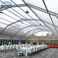 Commercial Clear Roof Wedding Tent Polygon Arched Aluminum Alloy Frame Manufactures