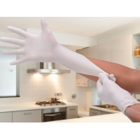 China Industrial White Latex Gloves Powdered Free / Disposable Latex Gloves on sale