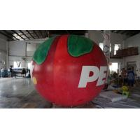 Quality B1 Fireproof PVC Apple Fruit Shaped Balloons With Full Digital Printing 3m Height for sale