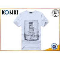 Quality Polyester / Cotton Plain White Round Neck T Shirts Printing For Man for sale