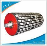 Bulk material handling Rubber ceramic pulley Manufactures