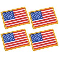 China Unisex US American Flag Velcro Patch / Military Punisher Tactical Patch on sale