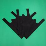 Biodegradable Non woven T-shirt bag, black color, 30gsm,  size 20+12x40cm,100% virgin, eco-friendly Manufactures