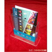 China Hotel / Restaurant Transparent Acrylic Literature Display Stands With 0.8-12mm Thickness on sale