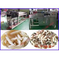 Single screw extruder second extrusion fried snack food production line Manufactures