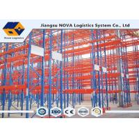 China Heavy Duty Metal Storage ShelvesWarehouse , Cold Rolled Steel Plate Narrow Aisle Pallet Racking on sale