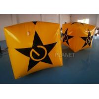 Buy cheap Yellow Color PVC Tarpaulin Water Floating Cube Buoy Inflatable Marker Buoy from wholesalers